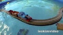 Thomas The Tank Pool Tracks Big Layout Train Crashes BoCo Bee & Shark Attack-E_miVy