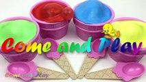 Ice Cream Clay Slime Surprise Eggs Disney Finding Dory Disney Frozen Trolls Pokemon Toys Fun Kids-Neb