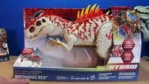 Jurassic World INDOMINUS REX Toy Dinosaurs Hybrid Rampage & Armor I-REX Dinosaur Toys Review-D8bmp9