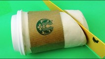 Starbucks Coffee How to Make with Play Doh Modelling Clay Videos for Kids ToyBoxMagic-q9C