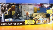Batman The Dark Knight Rises Battle At The Bank Playset Bane Tries To Steal Money Tumbler Stops Him-yf
