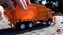 GARBAGE TRUCK Videos For Children l Kids Bruder Garbage Truck To The Rescue! l TOY TRUCK Videos Kids-AR3TM