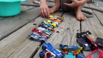 Hot Wheel Cars In The Potty and Toy Crane Fun-Mkc5wNtw