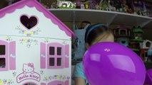 Big Purple Egg Surprises Golden Kinder Surprise Egg Toys HELLO KITTY DOLL HOUSE PLAYSET Frozen Anna-IlpQ