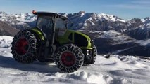 BRUDER TOYS Extreme test tractor Claas Axion in the Alps Mountains-4lmj