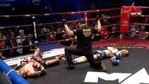 Double KO simultané lors d'un combat de Muay Thai