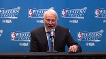 【NBA】Gregg Popovich Postgame Interview Warriors vs Spurs Game 4 May 22 2017 2017 NBA Playoffs