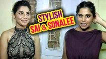Sai Tamhankar & Sonalee Dressed Stylish In Sanskruti Kaladarpan Awards 2017 | Dazzling Actress