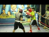 DARON SWEET TAY WILLIAMS SPARS D'JON FOR UPCOMING CLASH WITH FRANSISCO MORA EsNews Boxing