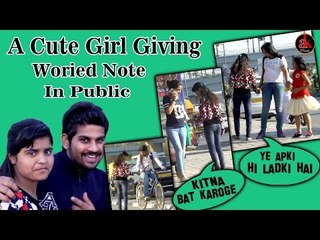 Picking Up Girls Giving Woried Letters In Public || Prank in India || GIVING NICE NOTES TO PEOPLE
