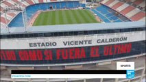 Football: Fans of Atletico Madrid say farewell to Vicente Calderon stadium