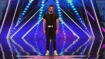 Brian Justin Crum Singer Gets Standing Ovation with Powerful Cover - America's Got Talent