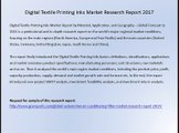 Digital Textile Printing Inks Market Research Report 2017