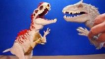 Jurassic World INDOMINUS REX Toy Dinosaurs Hybrid Rampage & Armor I-REX Dinosaur Toys Review-D