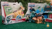 Jurassic World Toys Playskool Heroes Dino Tracker 4X4 & Dinosaur Velociraptor Raptor Figure-9JE