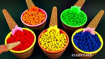 Learn Colors for Children with Play Doh Dippin Dots Surprise Toys Spongebob Angry Birds-eV0