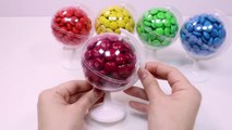 Learn Colors Chocolate Candy Ball Surprise Toys DIY Colors Foam Clay Slime-nOCPb