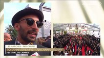 """JR """"Cette année il y a eu des larmes versées ici"""" - Festival de Cannes 2017"""