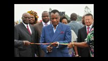 SASSOU NGUESSO POSE LA 1ere PIERRE DE LA CONSTRUCTION DU NOUVEAU PARLEMENT. IMAGES EXCLUSIVES