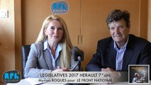 ELECTIONS LEGISLATIVES 2017 - Myriam ROQUES - AGDE - SETE - 7° CIRCONSCRIPTION - INDECAPANT