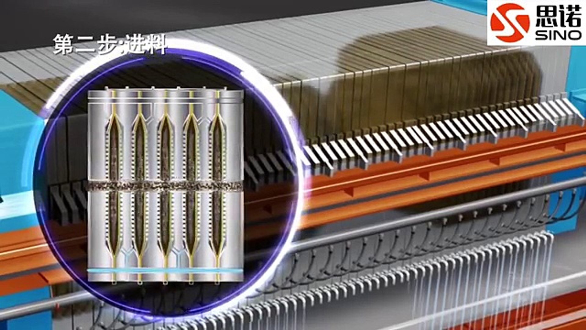 How does a china membrane filter press work