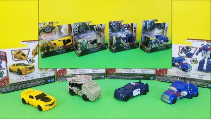 Transformers 5 one step changers bumblebee, optimus prime, autobot hound, barricade toy