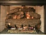 Peterson Heritage Oak Vented Gas Logs Video