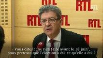 """Jean-Luc Mélenchon : """"Les Français ne sont pas obligés de donner les pleins pouvoirs à M. Macron"""""""