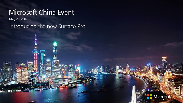 Microsoft China Event(In English) Introducing the new Surface Pro