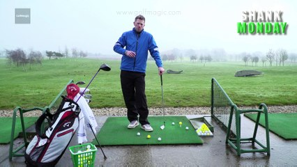 How to stop coming over the top -  Shank Monday golf tip