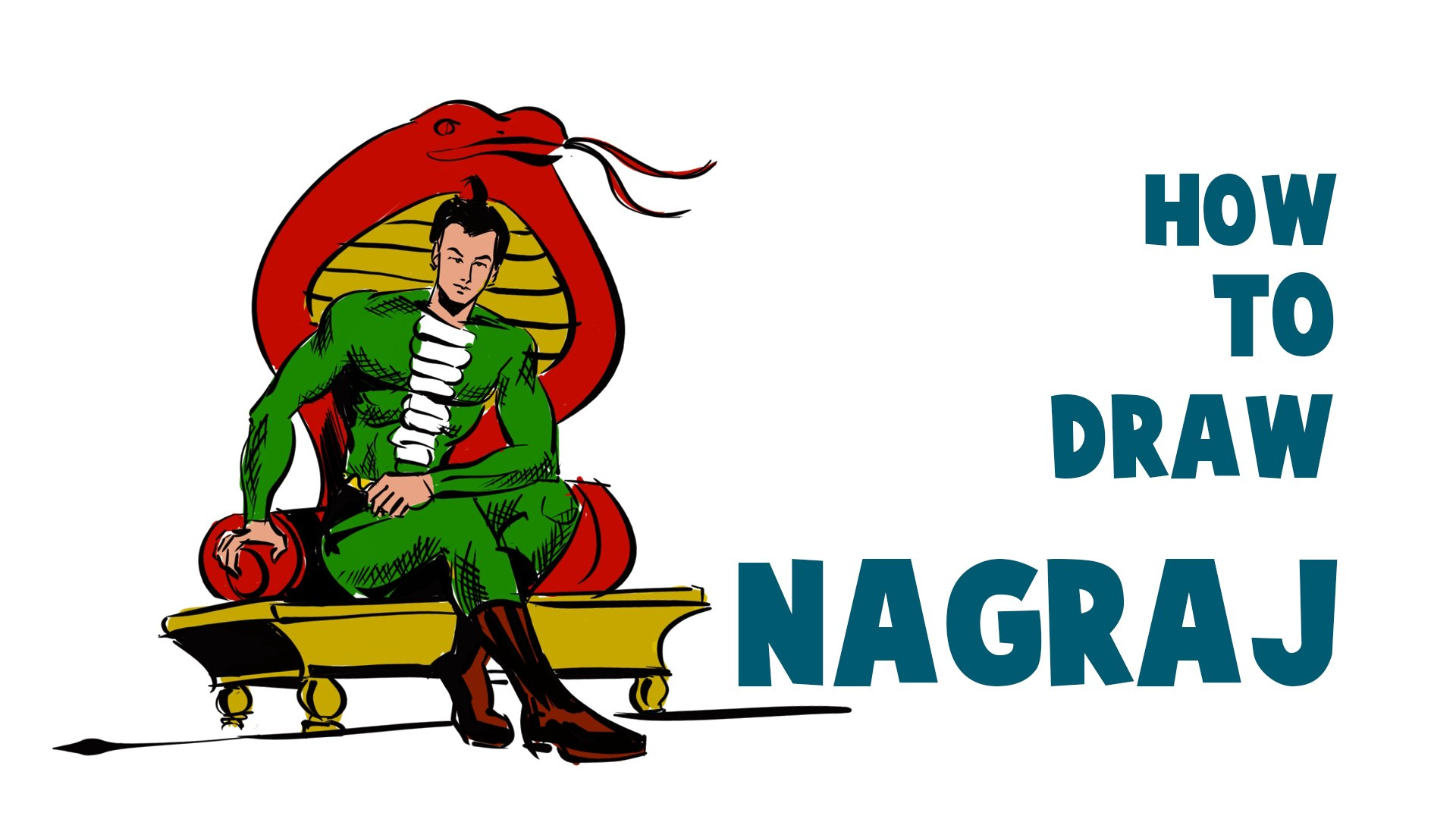 How To Draw Nagraj | Raj Comics superhero Nagraj Drawing |