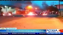 Disturbios y enfrentamientos se registraron la madrugada de este miércoles en varios estados de Venezuela