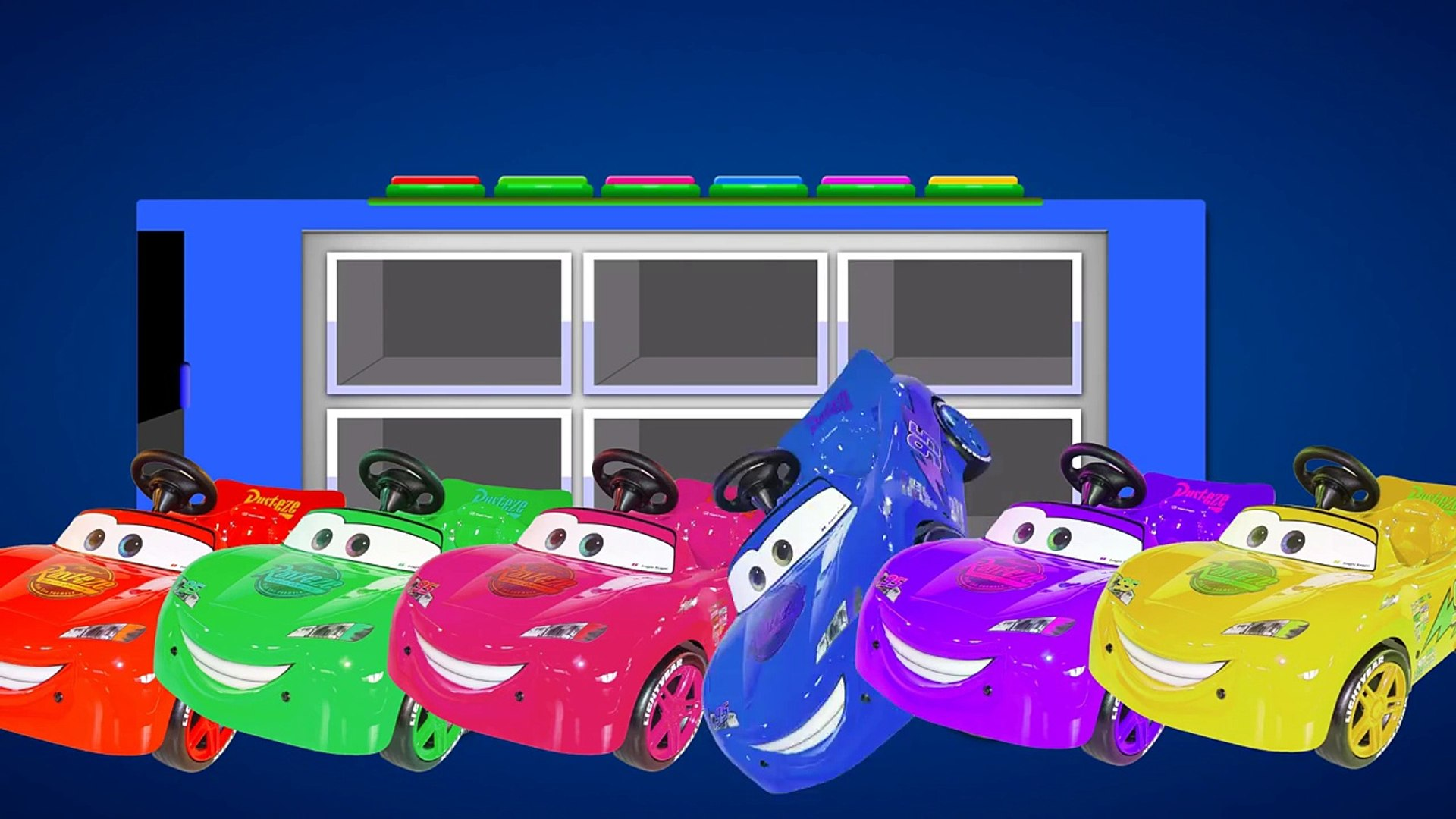 Learn Colors with McQueen Kids Bus !!! Color for Kids and Toddlers Education Cartoon Videos