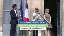 Ségolène Royal, discours lors de la passation de pouvoirs