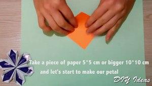 Easy Origami fo Kids - Paper Bow Ti