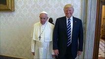 Pope Francis welcomes Donald Trump at Vatican despite past disagreements