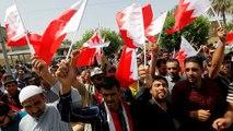 تظاهرات شیعیان عراقی در برابر سفارت بحرین در بغداد