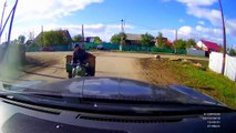 Hilariously Stupid Accident    RUSSIA (3 Wheeler Motorcycle vs Car)