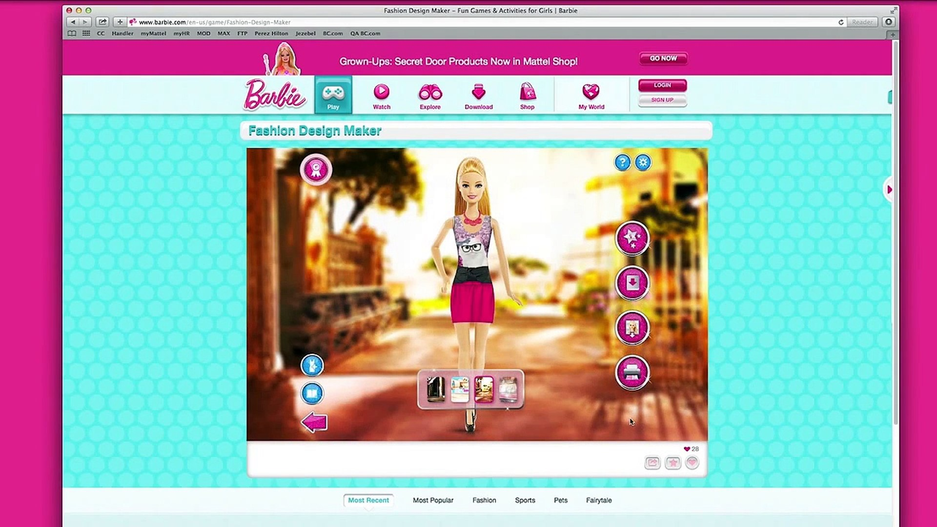 Fashion Design Maker How To Print From Web Barbie Video Dailymotion