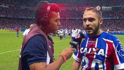 Craque da competição e campeão, Régis se declara à torcida do Bahia
