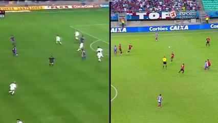 Inspiração? Edigar Junio faz gol muito parecido com de Romário, pelo Barcelona