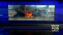 Semi-truck catches fire on I-10 during rush hour