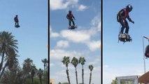 Franky Zapata teste le Flyboard Air (Arizona)