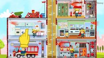 Fire Engine & Firefighters - FIRE TRUCK FOR KIDS   Game Cartoon For Children - Little Fire Station