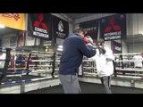 BIG SNAP & POP! mikey garcia working mitts with robert garcia EsNews Boxing