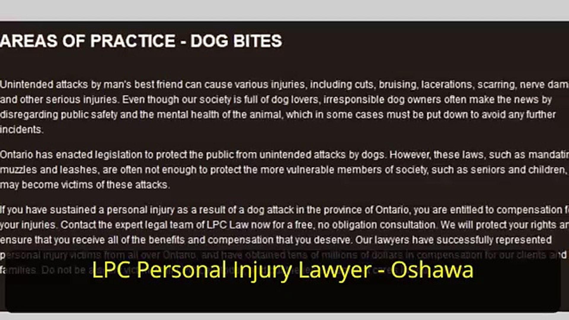 Personal Attorney Lawyer Oshawa ON - LPC - Personal Injury Lawyer Oshawa (800) 646-4179