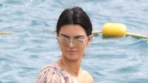 Kendall Jenner Wears a Long-Sleeved Bardot Swimsuit In Cannes