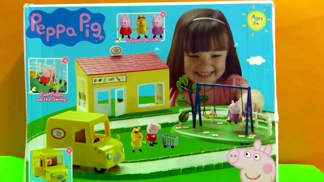 Peppa Pig Supermarket Playset [Peppa pig shopping Toys Episode]