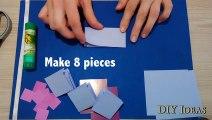 DIY mini DIARY in 3as for gift  Mini notebook portati