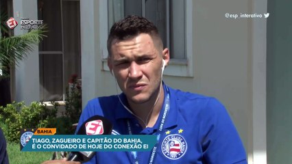 Tiago revela sondagem do Flamengo, mas afirma que quer permanecer no Bahia